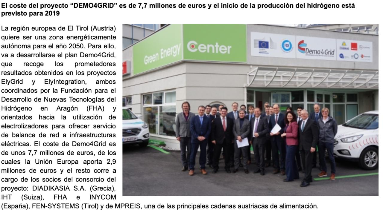 Aragón colabora en un proyecto pionero para convertir El Tirol en una región energéticamente autónoma