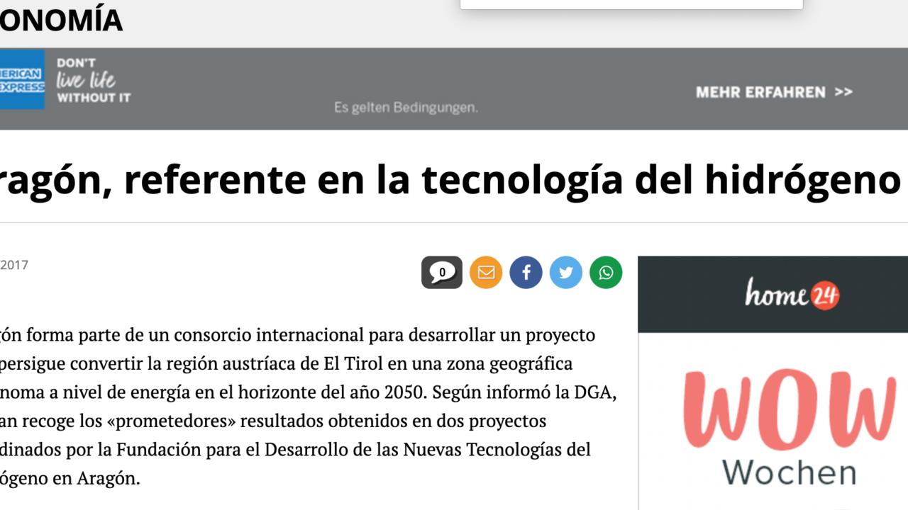 Aragón, referente en la tecnología del hidrógeno