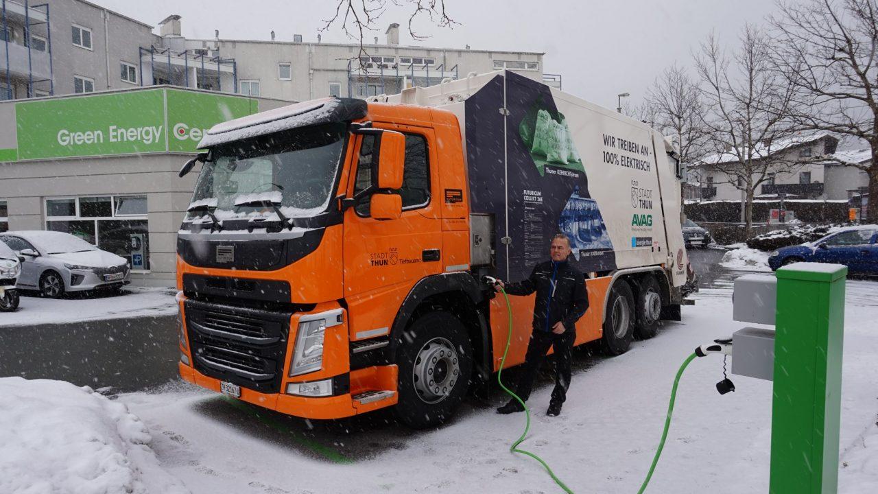 Erstes elektrisches Müllfahrzeug Futuricum Collect 26E beim Green Energy Center Europe