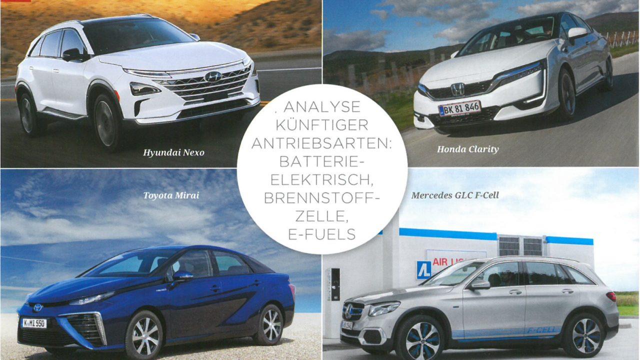 Analyse künftiger Antriebsarten: Batterie, Elektrisch, Brennstoffzelle, E-Fuels