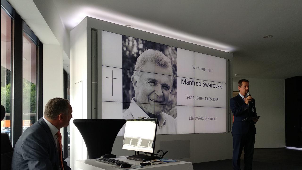 In memory of Manfred Swarovski