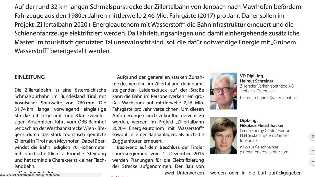 Zillertalbahn 2020+ Energieautonom mit Wasserstoff (www.dvvmedia.com)