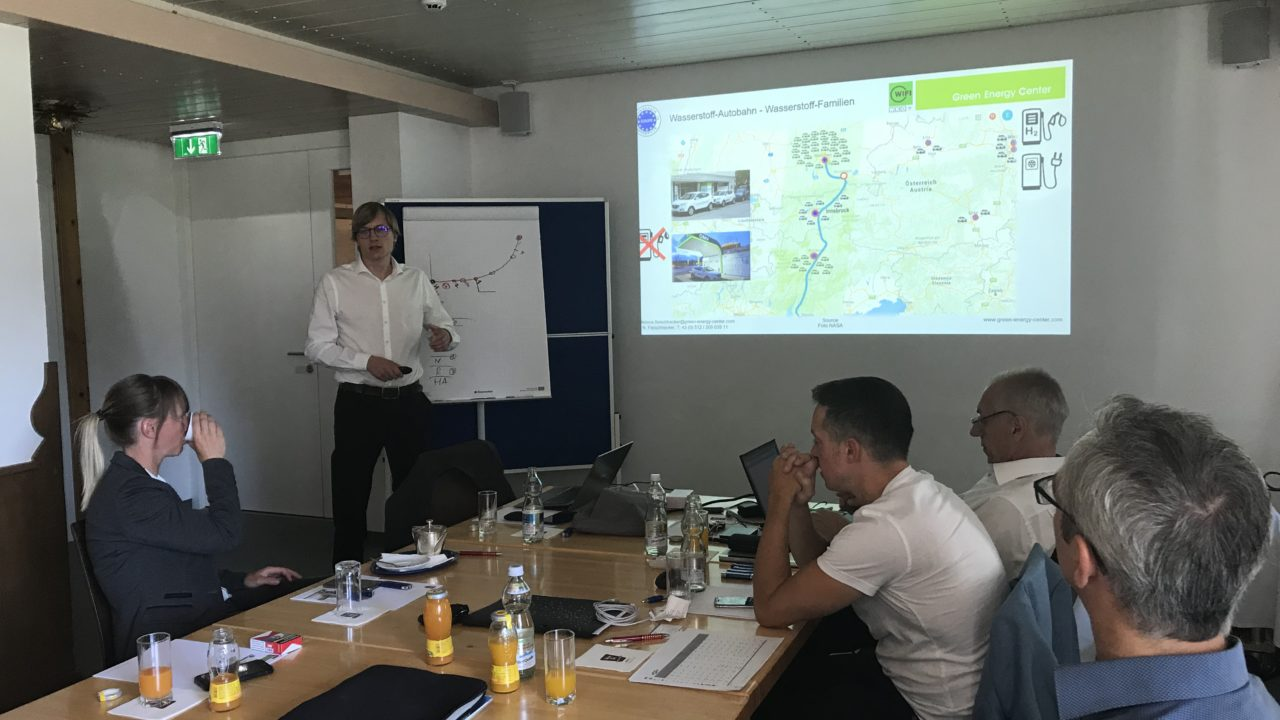 Austrians gas experts are interested on the running hydrogen projects