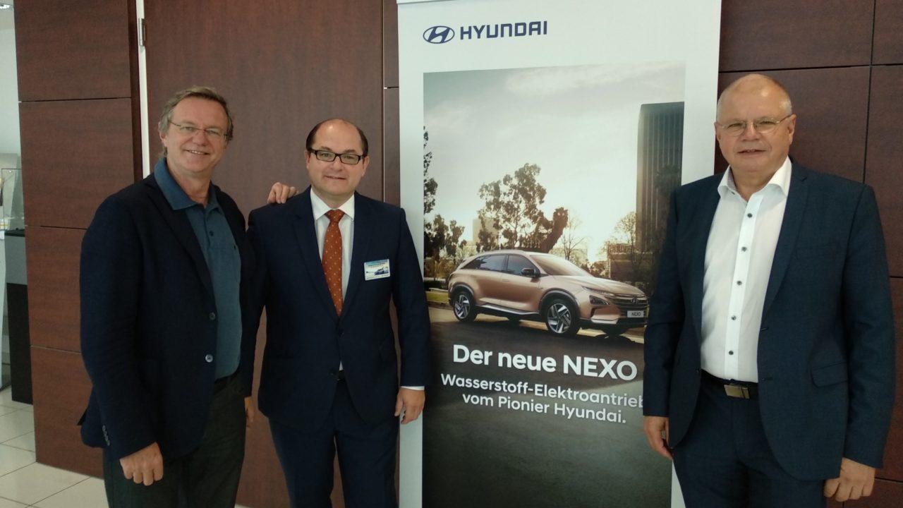 Hyundai und HyWest präsentieren NEXO FCEV am HyCentA an der TU Graz