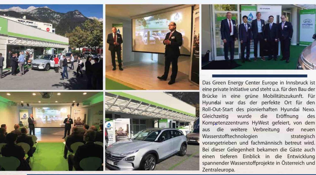 Hyundai NEXO Roadshows in Innsbruck, Linz/Wels und Graz