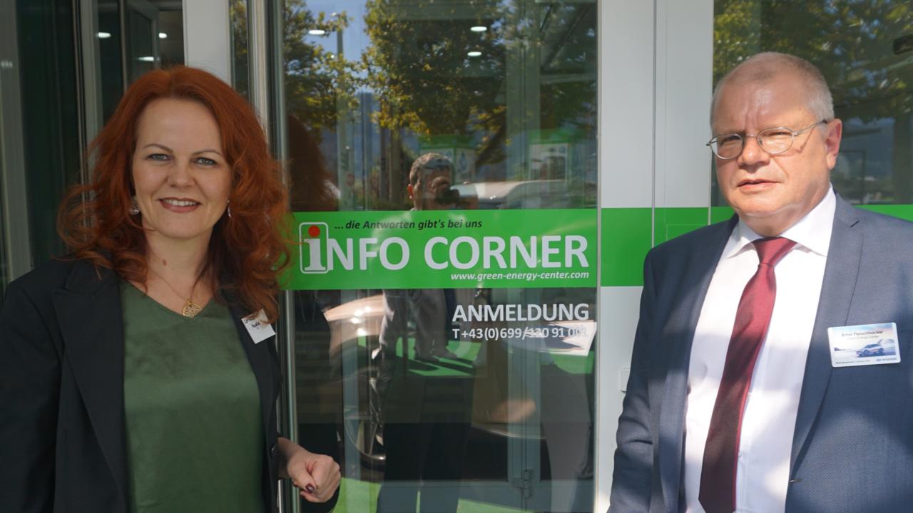 Eröffnung Info Corner des Green Energy Centers Europe