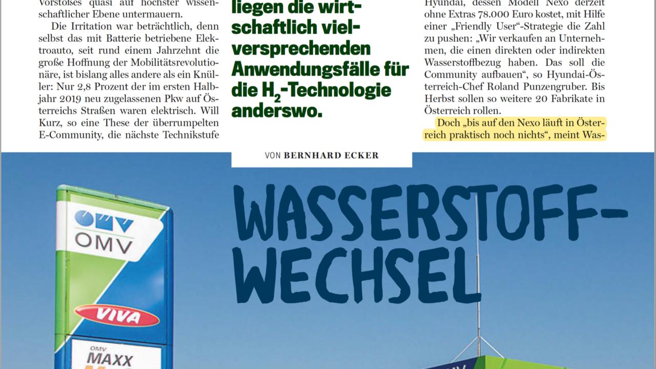 """Trend Wirtschaft: """"Wasserstoff-Wechsel"""""""